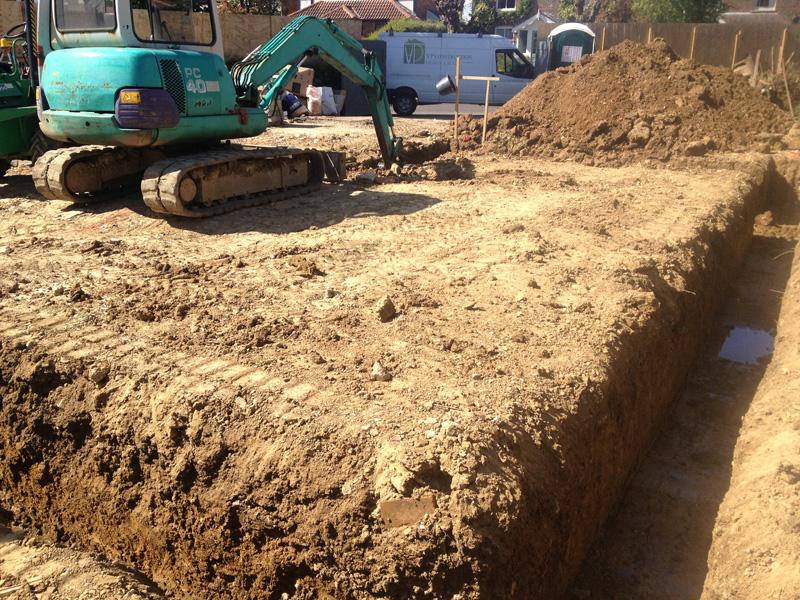 Edenbridge | Groundworks - Digging Foundations