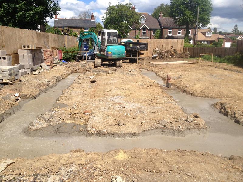 Edenbridge | Groundworks - Foundations for new semi-detached 3 bedroom houses