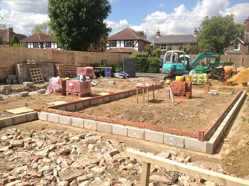 Omurca Ltd Edenbridge | Groundworks - Construction of new semi-detached 3 bedroom houses