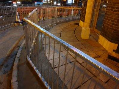 Liverpool Street Pavement & Railing Works by Omurca Ltd