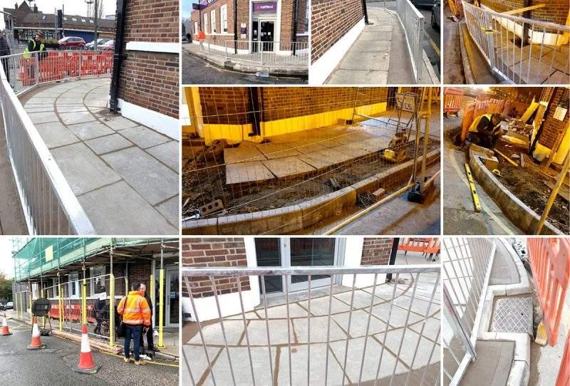 Liverpool Street Pavement & Railing Works by Omurca Ltd